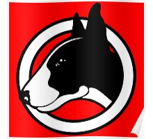 Black and White Bull Terrier Design  Poster