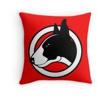 Black and White Bull Terrier Design  Throw Pillow