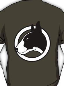 Black and White Bull Terrier Design  T-Shirt