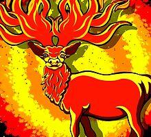 Fire Deer  by Sookiesooker