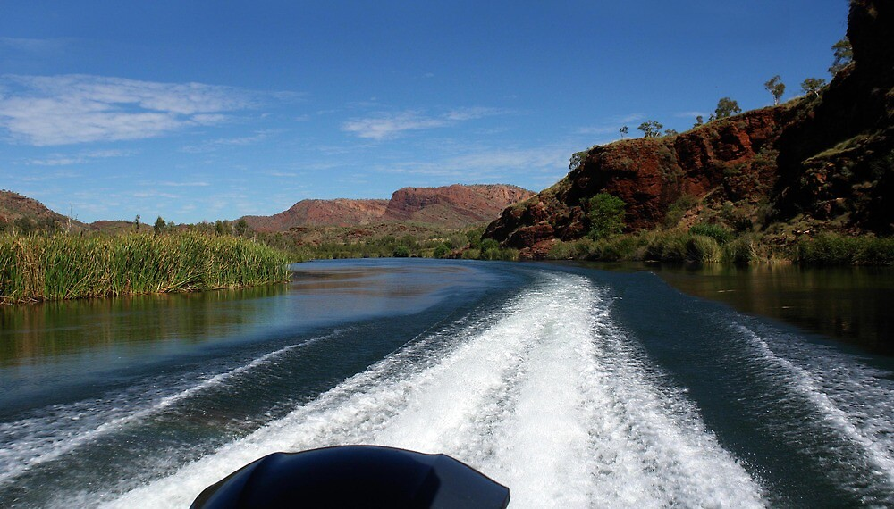 Speeding along on the Ord River by georgieboy98