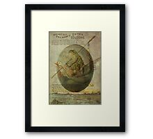 Goose and Frog's Easter Journey Framed Print