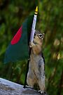 Jasper With The Flag of Bangladesh by Betsy  Seeton