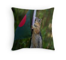 Jasper With The Flag of Bangladesh Throw Pillow