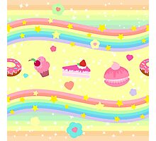 The pattern of sweets and pastries  Photographic Print