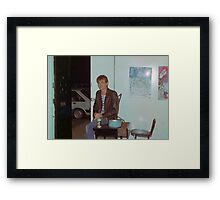 Philip 'Charlie' Rees door bitch Art Unit 1983 Framed Print