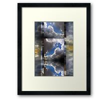 Echoes/Reflections: Composition With Clouds and Sky — July 5, 2010 Framed Print