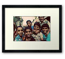 Boys will be boys Framed Print