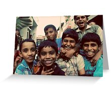 Boys will be boys Greeting Card