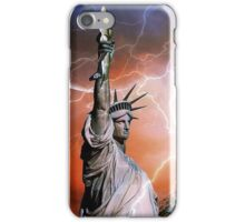 Statue of Liberty with Eiffel Tower iPhone Case/Skin