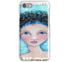 Whimiscal Girl with Curly Hair iPhone Case/Skin