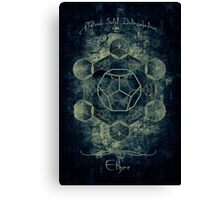 Sacred Geometry for your daily life Canvas Print