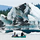 Canoeing at Mendenhall Glacier by Tracy Riddell
