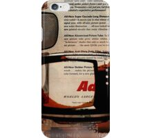 cool geeky tech Retro Vintage TV television Nostalgia iPhone Case/Skin