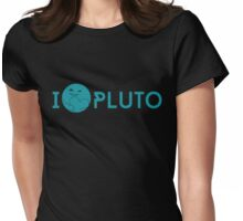 I <3 Pluto (teal) Womens Fitted T-Shirt