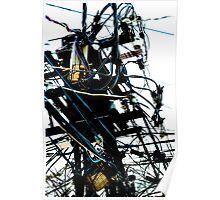 Vietnam Telecom serving spaghetti cables Poster