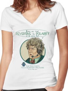 Reverse the Polarity Women's Fitted V-Neck T-Shirt