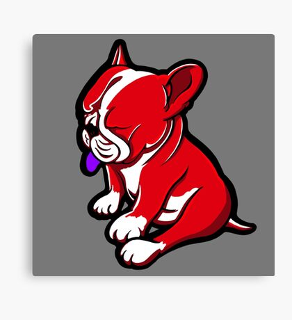Bull Terrier Red And White  Canvas Print