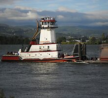 Tugboat On The River by Mike Edmondson