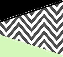 Zigzag Pattern, Chevron Pattern - Gray Green Black by sitnica