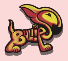 Bullies Letter Character Red and Yellow  One Piece - Short Sleeve