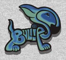 Bullies Letter Character Turquoise and Blue One Piece - Long Sleeve