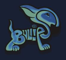 Bullies Letter Character Turquoise and Blue Kids Tee