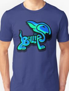 Bullies Letter Character Turquoise and Blue Unisex T-Shirt