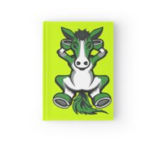 Horse Chilling Green and White  Hardcover Journal