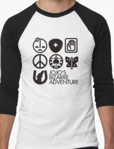 Jojo's Bizarre Adventure Symbols Men's Baseball ¾ T-Shirt