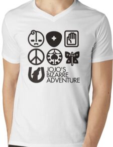 Jojo's Bizarre Adventure Symbols Mens V-Neck T-Shirt
