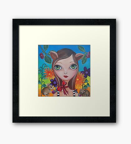 """""""Cat and Mouse"""" Framed Print"""