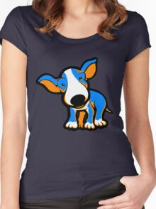 IrnBru English Bull Terrier Puppy  Women's Fitted Scoop T-Shirt