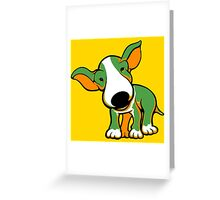 Irish Bull Terrier Puppy  Greeting Card