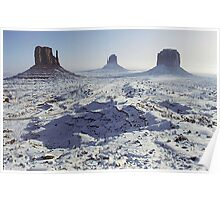 Monument Valley in the snow Poster