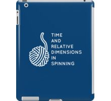 Time And Relative Dimensions in Spinning / White iPad Case/Skin