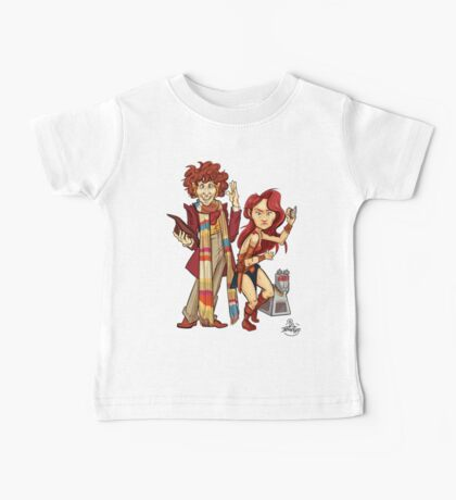 The Doctor, The Warrior, and K-9 Baby Tee