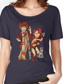 The Doctor, The Warrior, and K-9 Women's Relaxed Fit T-Shirt