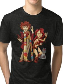 The Doctor, The Warrior, and K-9 Tri-blend T-Shirt