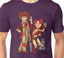 The Doctor, The Warrior, and K-9 Unisex T-Shirt