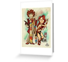 The Doctor, The Warrior, and K-9 Greeting Card