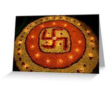 Diwali Lamps Greeting Card