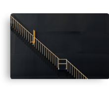 COURAGE is daring to climb the Staircase of Life, even when the Elevator is fully functional Canvas Print
