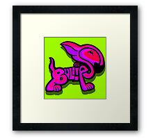 Bullies Letter Character Red Pink and Purple  Framed Print