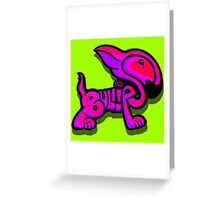 Bullies Letter Character Red Pink and Purple  Greeting Card