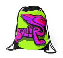 Bullies Letter Character Red Pink and Purple  Drawstring Bag
