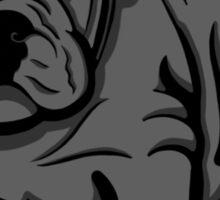Grumpy Bull Dog Puppy Grey Sticker