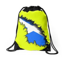Scottish in Me Saltire Rip Tear  Drawstring Bag