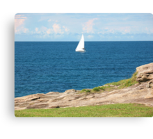 The White Yacht Canvas Print