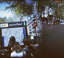 Paris Metro Saint Paul - Holga Double Exposure by istillshootfilm